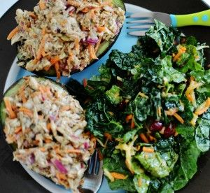 Chicken Salad Stuffed Avocado - {Mindy's Munchkin Menu} Toddler & Kid Meal