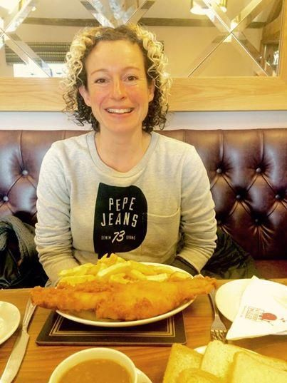 Stopped at the scrummy Wetherby Whaler today en route to @Playhouse_WB for this evening. Yum yum yum yum.... X