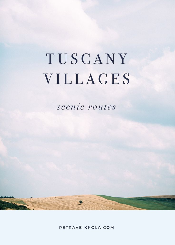 Tuscany villages and scenic routes by Petra Veikkola Photography. Visit www.petraveikkola.com/blog to see more.