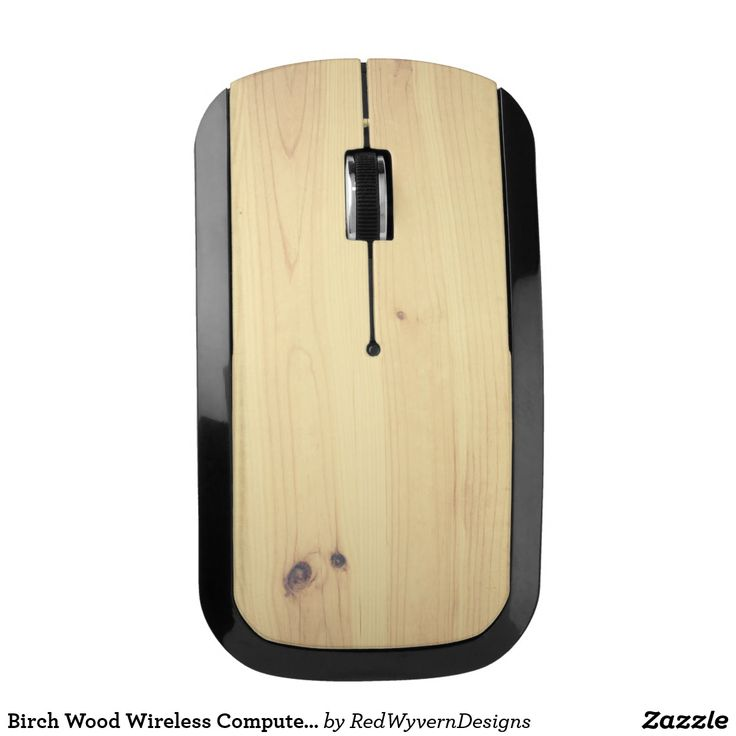 Birch Wood Wireless Computer Mouse