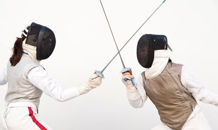 Two-hour classes teach students of all ages and abilities proper fencing technique; equipment is included