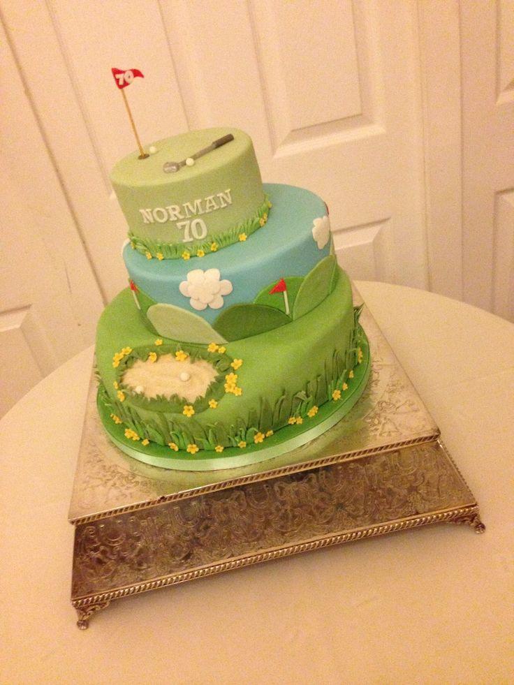 three tier golf cake | Maureen Webber's Cake Emporium - Celebration Cakes Gallery