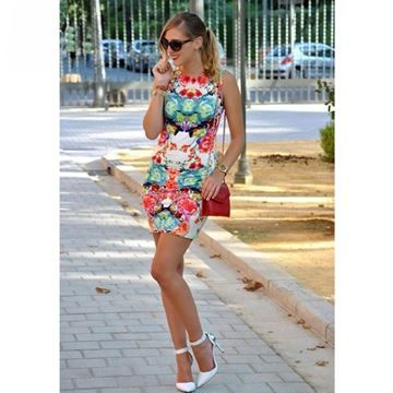 Show details for Women Floral Printed Mini Dress