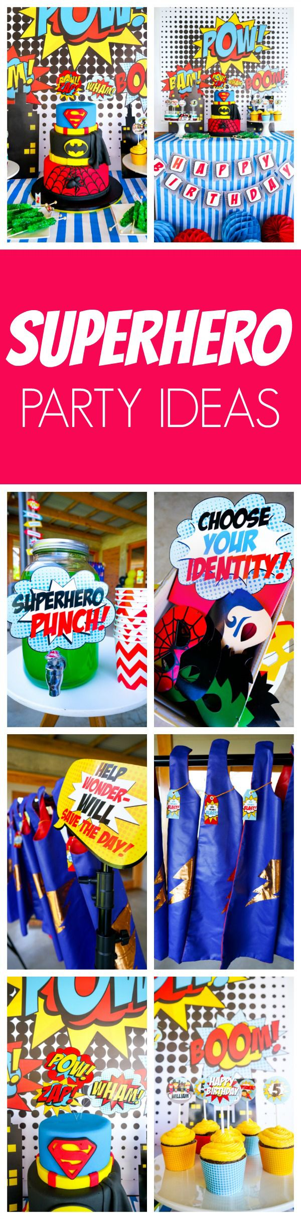 Superhero Birthday Party | Pretty My Party