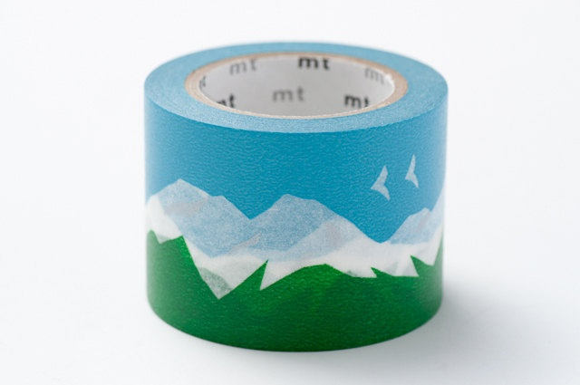 mt Washi Masking Tape - Snowy Mountain - mina perhonen. $10.50, via Etsy.