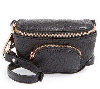 кожаная сумка на пояс женская
