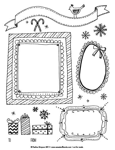 christmas picture frames coloring pages - photo#4