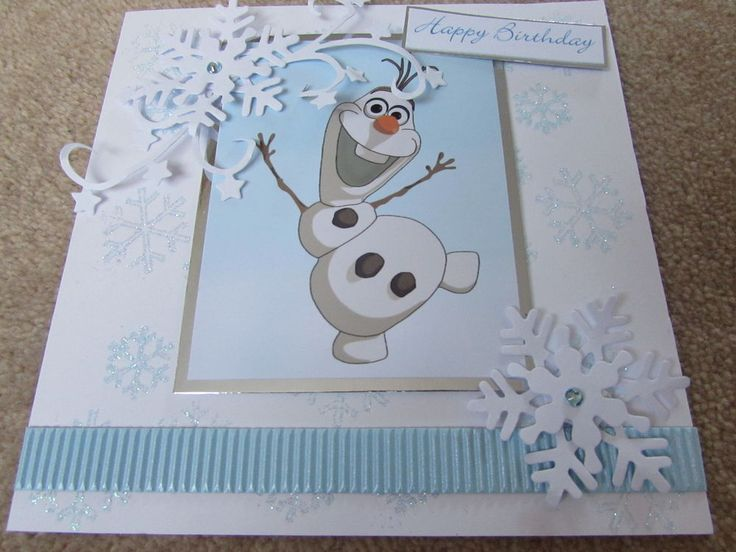 Frozen Olaf Handmade Birthday Card - by SCT Designs