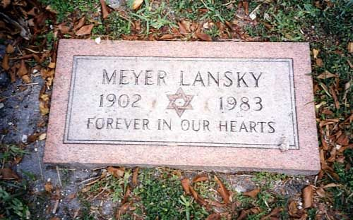 Meyer Lansky (1902 - 1983) Organized Crime Figure. He was half of the Bugs (Siegel) and Meyer Gang, a friend of Lucky Luciano, one of few non-Sicilian 'Mafia' and one of few who died of natural causes. The government was never able to convict him.