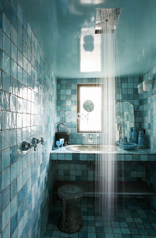 Jean-MarcPalisse - blue tiled shower room