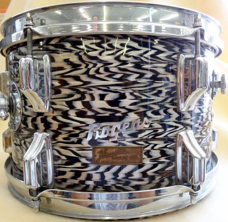 1960'S Rogers Holiday Black Onyx Pearl Drum Kit, 5Pc | eBay