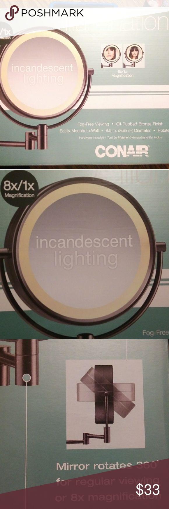 Conair 1x 8x Magnifying Makeup Mirror Nib Makeup Mirror Makeup Mirror With Lights Wall Mounted Lighted Makeup Mirror