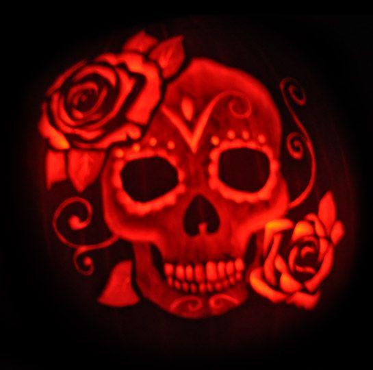 Free Dia De Los Muertos Pumpkin Carving Stencil