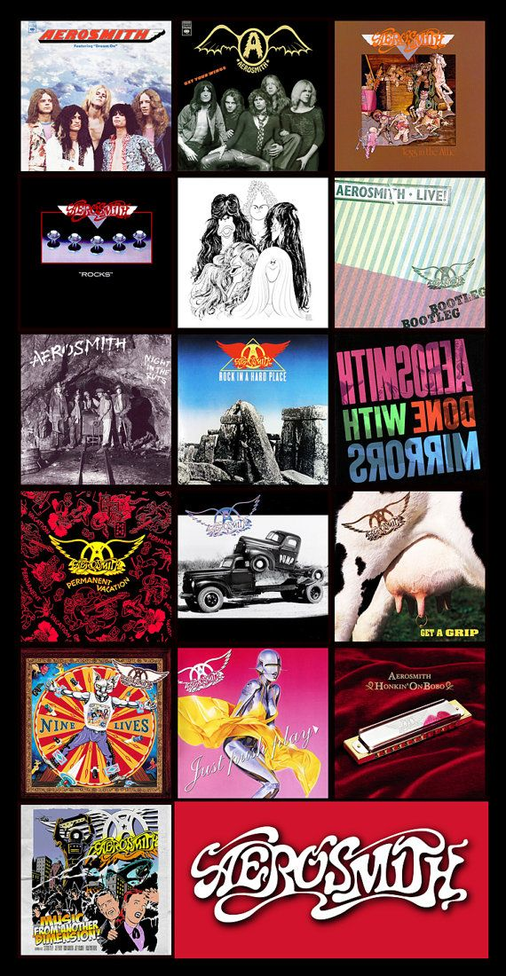 AEROSMITH discography magnet 4.5 x 3 by BandDiscMags on Etsy