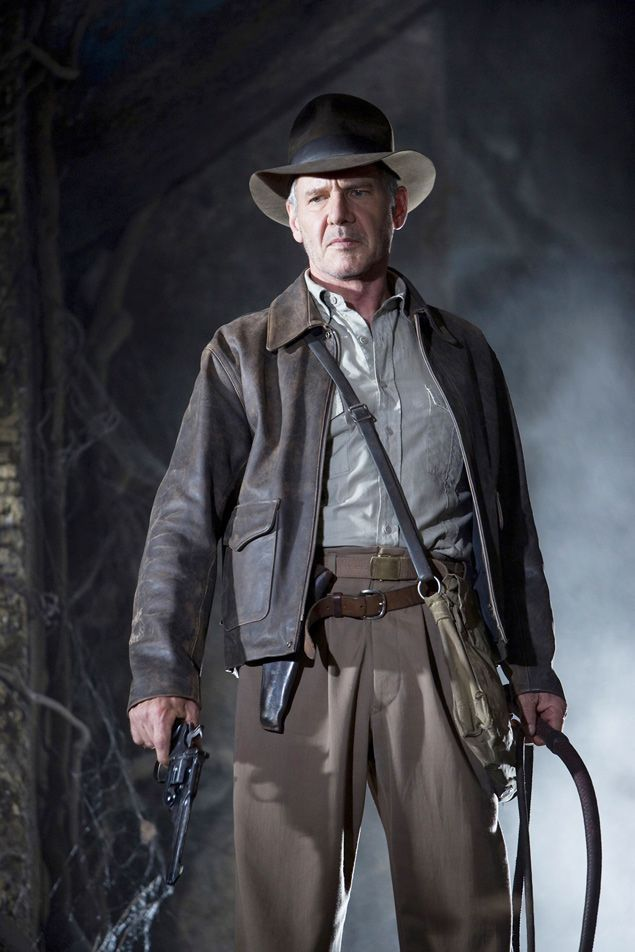 """Cinema: o ator Harrison Ford em cena de """"Indiana Jones e o Reino da Caveira de Cristal"""", filme dirigido por Steven Spielberg. Actor Harrison Ford is shown in this undated publicity photo released to Reuters April 23, 2008 in a scene from Lucasfilm LTD and Paramount Pictures upcoming summer film """"Indiana Jones and the Kingdom of the Crystal Skull"""". With the summer movie season set to begin with next week's release of comic book movie """"Iron Man,"""" Hollywood is holding its breath, hoping for a…"""