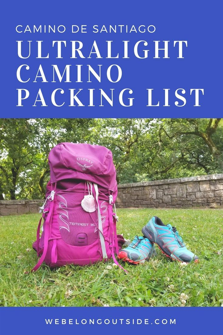 My Ultralight Camino Packing List Backpacking Packliste