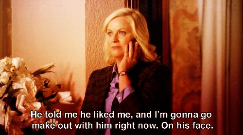 The moment Leslie finally decided to go for it was the most magical thing… | 29 Reasons Leslie Knope And Ben Wyatt Are The Most Perfect Fictional Couple Around