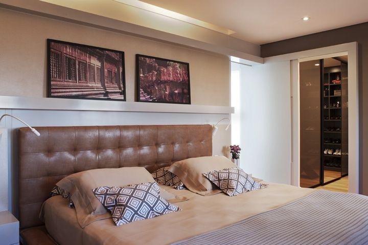 Integração é o ponto chave. Veja o restante dessa casa: http://www.casadevalentina.com.br/projetos/detalhes/para-receber-os-amigos-616 #decor #decoracao #interior #design #casa #home #house #idea #ideia #detalhes #details #style #estilo #casadevalentina #bedroom #quarto
