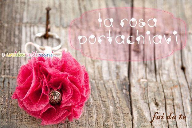 rosa-portachiavi fai da te