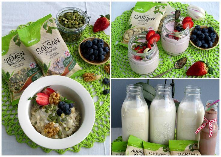 Helpot pähkinäiset smoothiet, tuorepuurot ja itsetehdyt kasvimaidot: Tinskun keittiössä