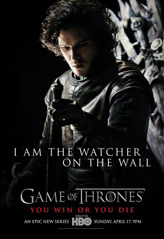 Jon Snow  on the wall