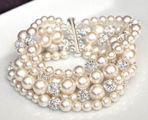 Pearls or Crystals – Why not Both?! on itsabrideslife.com/Wedding Jewelry/Bridal Jewelry/Pearl Wedding Jewelry/Crystal Wedding Jewelry/Pearl and Crystal Wedding Jewelry