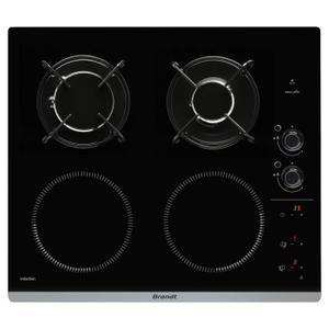 BRANDT BPI6413BM - Table de cuisson mixte gaz et induction