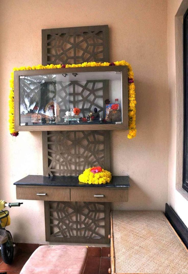 Wooden temple designs for home small temple for home wooden home - Juhi Jayant And Aksh S Beautiful Bangalore House Tour