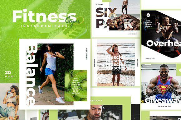 Fitness Gym Instagram Pack Fitness Instagram Gym Workouts Instagram Marketing