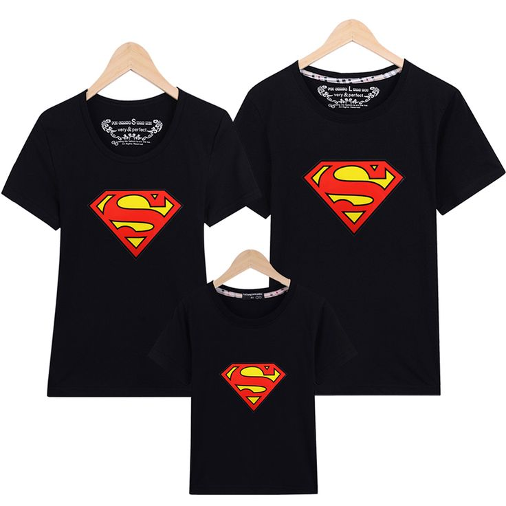 >> Click to Buy << 16 Colors Summer Family Matching Clothes New Family Look Superman T Shirts  Mom & Dad & Son & Daughter Cartoon Outfits #Affiliate
