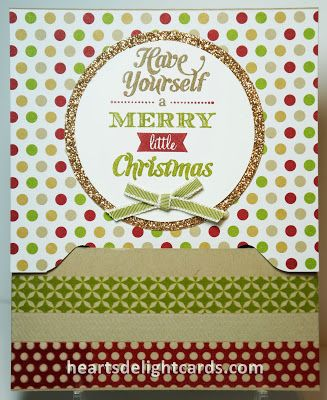 Stampn' Up! Envelope Punch Board Card by Heart's Delight Cards: Sliding Gift Card