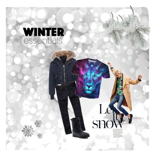"""""""Leo's winter outfit"""" by lana-redway on Polyvore featuring Mackage, Hollister Co., Lands' End, men's fashion and menswear"""