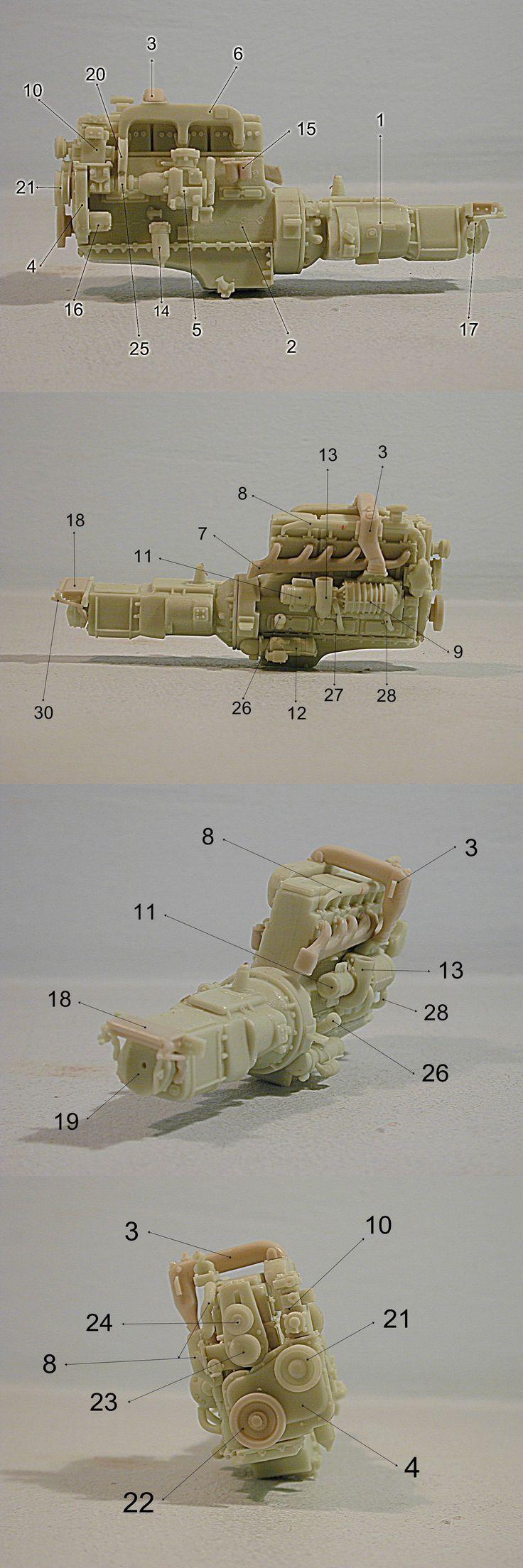 Truck 2584: Cummins Diesel Engine 1:25 Scale Resin Kit -> BUY IT NOW ONLY: $45 on eBay!