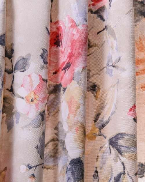 Perdele si draperii :: Tesaturi (metraj) :: Tesatura draperie Varna Panama rosie, bej