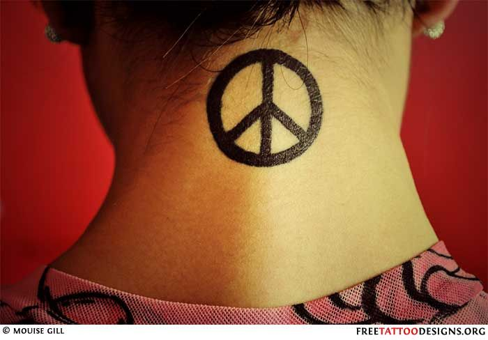 42 Best Melting Peace Sign Tattoo Images On Pinterest