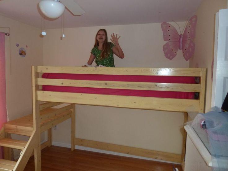 best 20 loft bed frame ideas on pinterest lofted beds loft twin bed and loft bed decorating. Black Bedroom Furniture Sets. Home Design Ideas