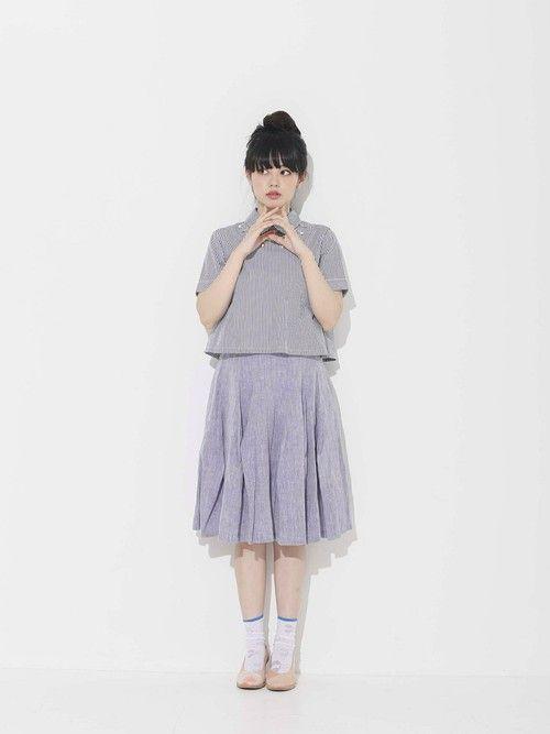 青柳文子│mysticのシャツ・ブラウスコーディネート-WEAR
