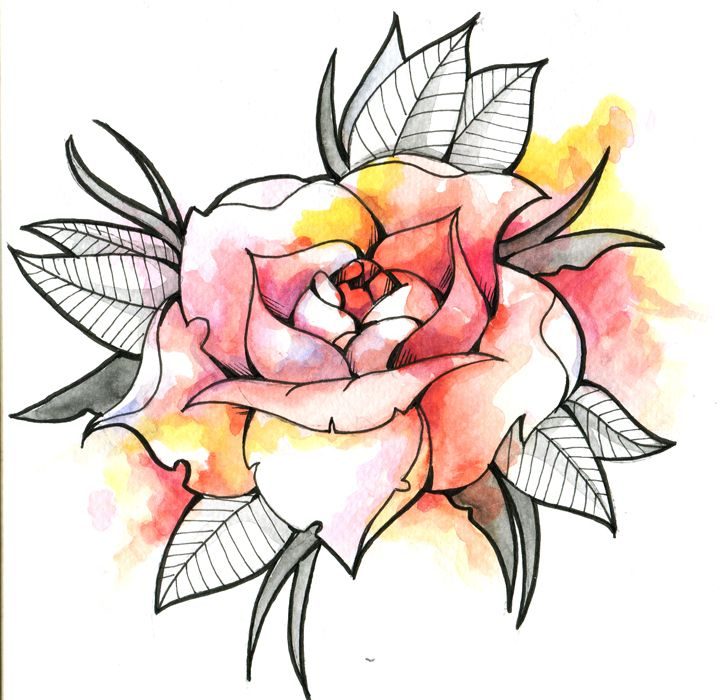 best 20 watercolor rose tattoos ideas on pinterest. Black Bedroom Furniture Sets. Home Design Ideas