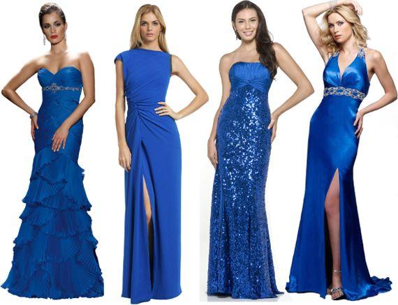 Синие платье на новый год 2013