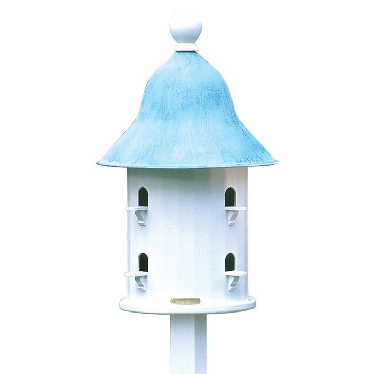 Lazy Hill Farm Designs 43413 Bell Bird House with Blue Verde Copper Roof