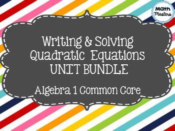 Quadratic Equations: Word Problems Unit Bundle