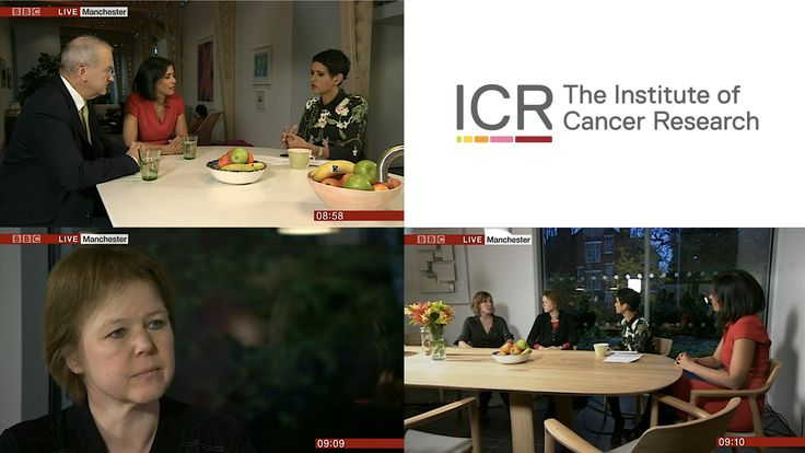 BBC Breakfast concluded their week of shining a light on cancer by today broadcasting their show from Maggie's Centre in Manchester.  ICR Professors Winette van der Graaf and Nazneen Rahman made appearances to talk about their research; about how we can improve cancer diagnosis and treatment and how we can do more for young adults with cancer.