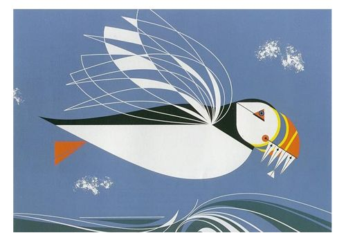 Signed Limited Edition Prints — The Name is Puffin — Charley Harper Prints
