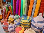 Market, Baskets, Matting, Colorful