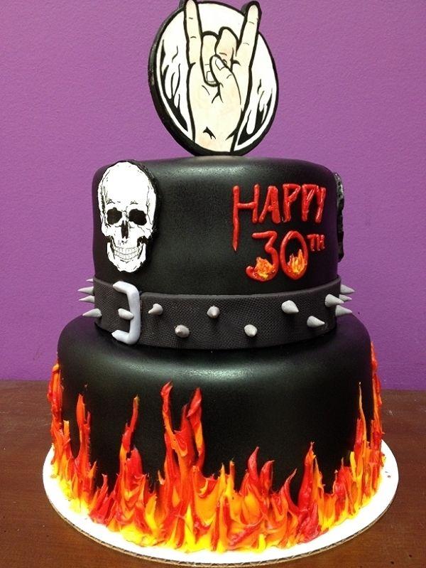 Heavy metal birthday cake by Frostings Bake Shop