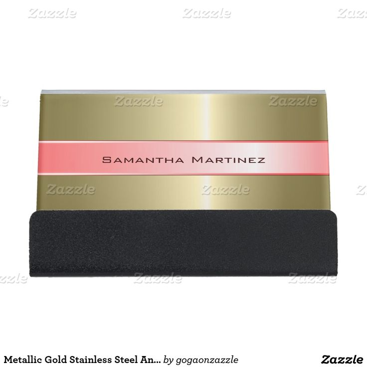 11 best desk business card holder images on pinterest business metallic gold stainless steel and pink desk business card holder colourmoves