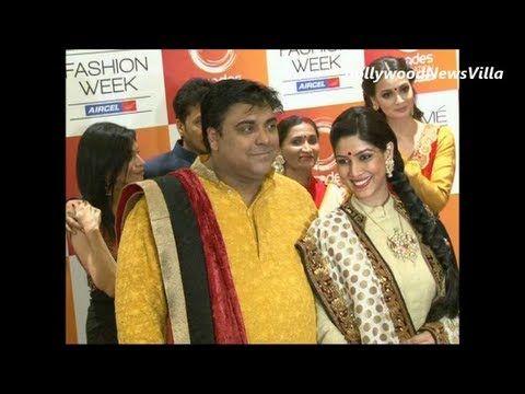 Ram Kapoor & Sakshi Tanwar together at Lakhme Fashion Week 2013.