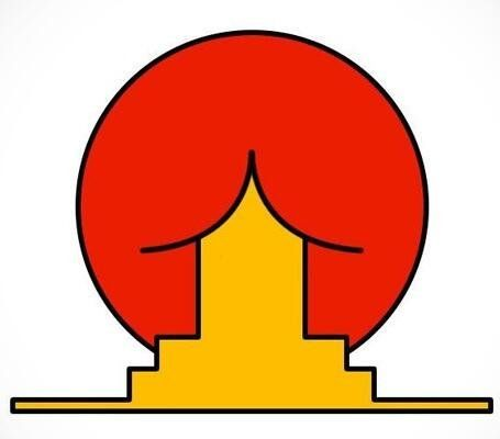 Brazil's Federal University of Santa Catarina's Institute of Oriental Studies was going for a Japanese temple against the Japanese rising sun. As soon as someone saw the uh, roof, in a butt, the logo achieved meme status in 2005 and the school took it down.
