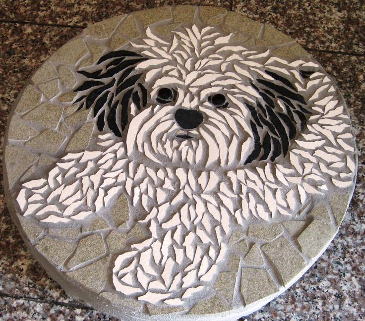 Pet Portrait Mosaic Stone.