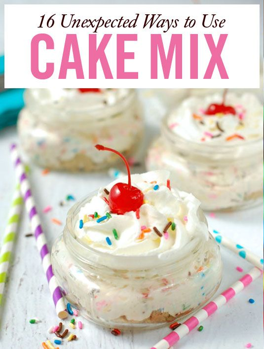 Unexpected Cake Mix Recipes